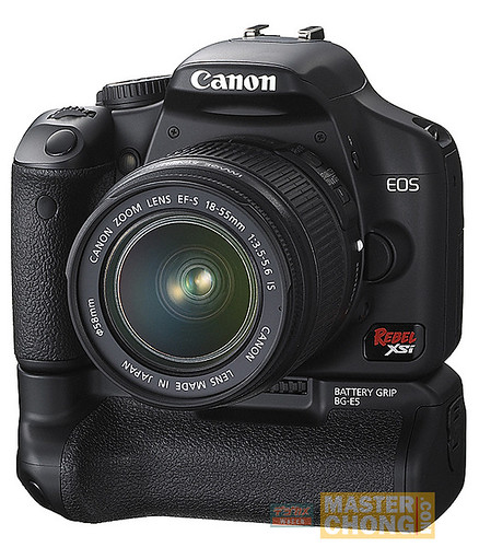 Canon EOS XSi/450D with Battery Grip