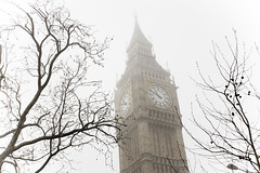 London (Chris MacGovern) Tags: london fog bigben bwlondon