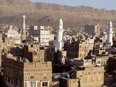Sana'a (twiga_swala) Tags: world old heritage skyline town site unesco arab views medina yemen arabian sanaa peninsula sana minarets jemen towerhouses