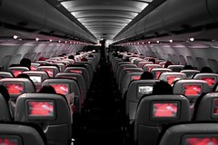 RED - The Inflight Entertainment System of Virgin America (A Sutanto) Tags: red plane airplane inflight cabin interior jet perspective passengers virgin va seats airline airbus inside airliner a320 vx ptvs virginamerica superbmasterpiece