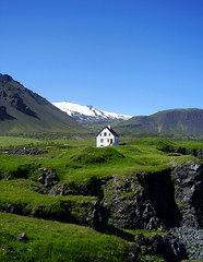 'THE LITTLE WHITE-HOUSE'  - Best viewed large ! (Mundilfari*) Tags: white house west nature iceland little whitehouse glacier aplusphoto onlythebestare coolestphotographers