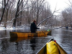 Looking Glass River winter paddle (onewildwest) Tags: old winter river march town kayak looking michigan paddle canoe solo lookingglass 2008 souris quetico olde kevlar dewitt towne q16 q17 royalex wacousta onewildwest wovencolor