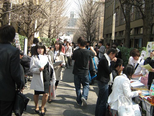 Club Recruitment Day in Waseda University 4