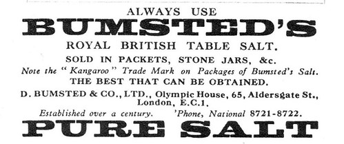 IMG_0001 Bumsted's salt ad, UK 1935