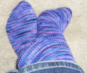 purple koigu sock2