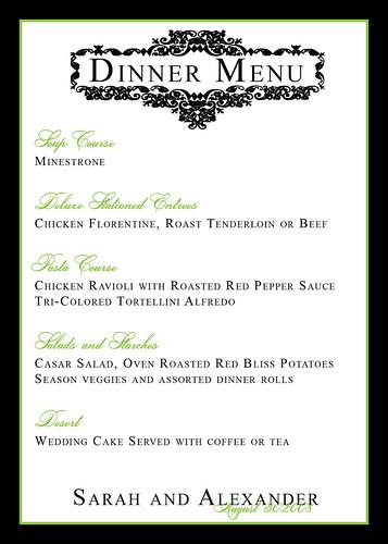 menu card templates free download .