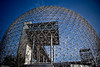 BIOSPHERE (Luc Deveault) Tags: blue sky canada grid wire montréal expo quebec montreal biosphere bleu ciel québec luc expo67 stehelene internationnal deveault lucdeveault