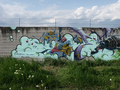 finished_01 (mrzero) Tags: cloud streetart detail green art toxic lines wall effects graffiti 3d mural paint hungary eger letters meeting fork spray heat styles colored graff grape cfs hepi mrzero