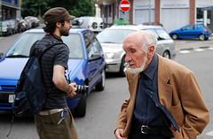 Generation crossroad (Teo's photo) Tags: italy nikon italia oldman crossroad generation vecchio casale monferrato youngboy incrocio giovane generazioni casalemonferrato d40x sigma1850mmhsm