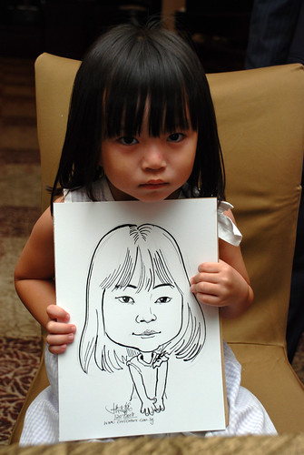 caricature live sketching for wedding dinner 120708  - 35