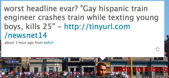"worst headline evar? ""Gay h..."