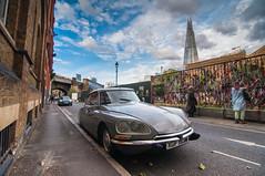 A rather striking Citroën DS23 (John Willoughby) Tags: london england unitedkingdom citroën southwark ds23 xgf193m shard se1 citroen crossbones garden
