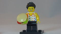 Spikey Hair Big BurgerBrick Yourself Custom Lego Figure