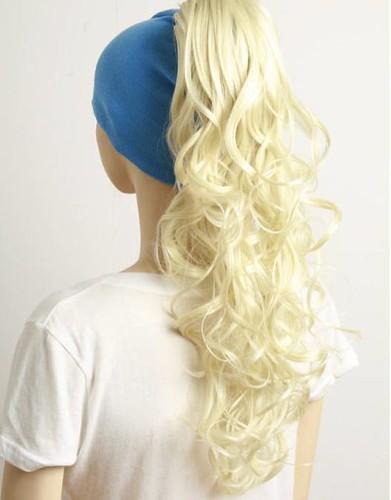 [SALE] ebay korean, blonde, curly ponytails x 2