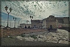 (francesco_p) Tags: sky castle clouds nuvole cielo napoli naples castello borgo soe supershot cielonuvoloso castelldellovo borgomarinaio