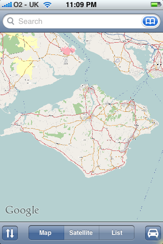OSM Isle of Wight on the IPhone