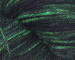 Alien Experiment + black trim on Rambouillet Worsted Yarn - 6 oz (WW)