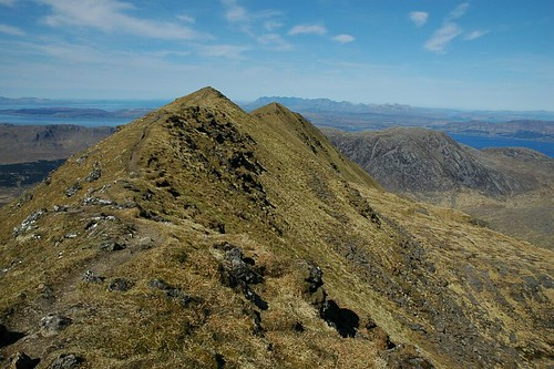 Ladhar Bheinn Summit looking out to Skye