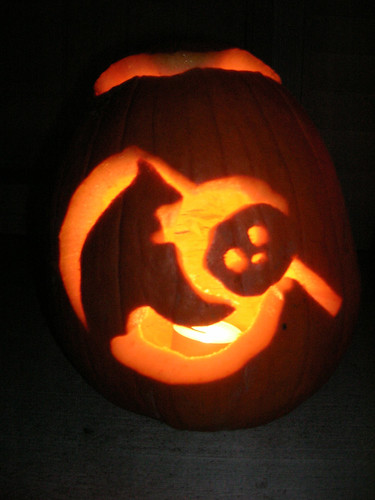 My 2007 Cute Grim Reaper Pumpkin