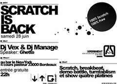 Print/ Scratch is Back verso ([GW] GrafikWar) Tags: poster design experimentation graphique grafikwar