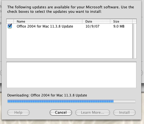 Office 10.3.8 Update