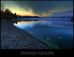 The cloud that kissed the lake... (Jerimias Quadil) Tags: mist lake beach fog sunrise refelections twtmy jerimiasquadil blackmanslake