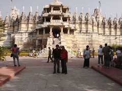 Krunal and Me - Ranakpur Temple (Mezzotint) Tags: