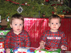 Twins on Christmas