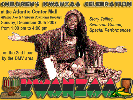 Children's Kwanzaa Celebration at the Atlantic Center Mall in downtown Brooklyn