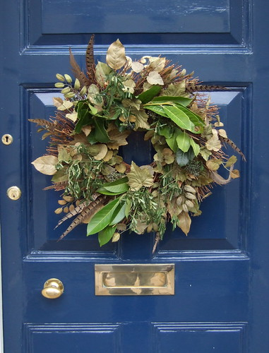 Christmas traditions - feathery wreath