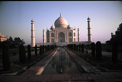 Taj Mahal (wide reflection)