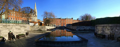 The Garden of Remembrance (Andy Sheridan) Tags: park ireland urban autostitch panorama dublin reflection phil eire republican 1916 28dayslater thegardenofremembrance daithíphanly