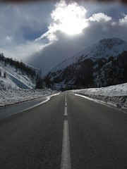 road_to_Galibier (lorenzo rockito priori) Tags: road winter sun snow france alps ice strada neve valloire galibier savoia winterscenary groovygang canonpowershota560 rockito roadtogalibier paessaggioalpino lahautesavoie httpwwwfacebookcomlorenzorockito
