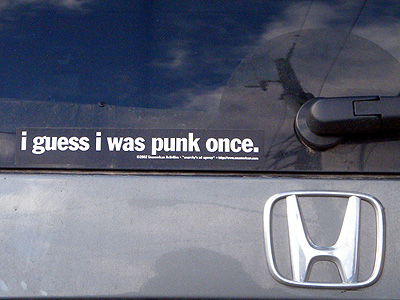 i guess i was punk once