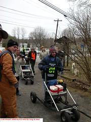 The VA Serum Run Begins (gamusher) Tags: virginia run trail va rig cart creeper mushing sled dogsledding reenactment relay abingdon winterfest serum dryland