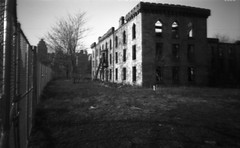 B2030811 (gmpicket) Tags: old nyc abandoned architecture ruin historic pinhole urbanexploration 2008 asylum ilford rooseveltisland renwick smallpoxhospital panf blackwellsisland