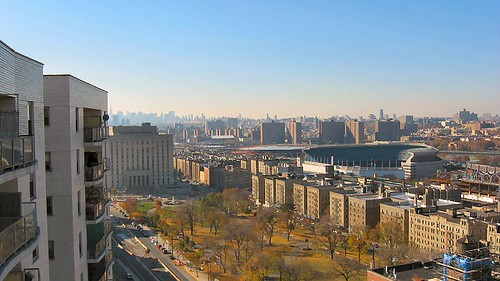 Original Yankee Stadium as seen from 1020 Grand Concourse, Apartment 24D