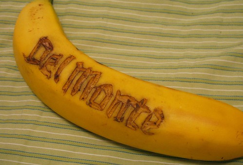 carved del monte banana