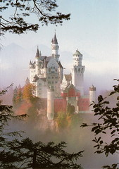Neuschwanstein Postcard (Piedmont Fossil) Tags: castle germany postcard neuschwanstein