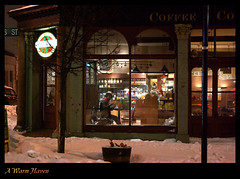 A Warm Haven (Geoff in Worthing, UK) Tags: winter ontario canada cafe kingston pentaxk10d justpentax