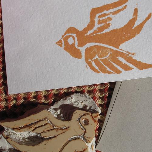 close up carved bird