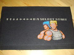 Contra sampler (unframed) (benjibot) Tags: crossstitch crafts videogames nes contra