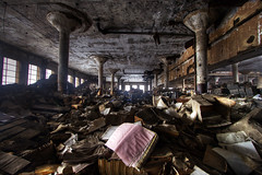 Detroit book depository (Timothy Neesam (GumshoePhotos)) Tags: abandoned book sad destruction detroit ruin books timothy derelict wreckage hdr depressing wasteful depository neesam photomatix