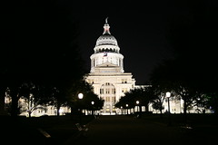 further shot of texas state capitol building