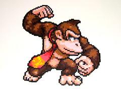 Donkey Kong  Bead Sprite (Doctor Octoroc) Tags: smash brothers nintendo super videogames bros donkeykong gamecube n64 melee supersmashbrosmelee wii hamabeads perlerbeads supersmashbrosbrawl beadsprite doctoroctoroc