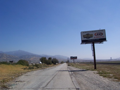 Rough frontage road near Banning, California