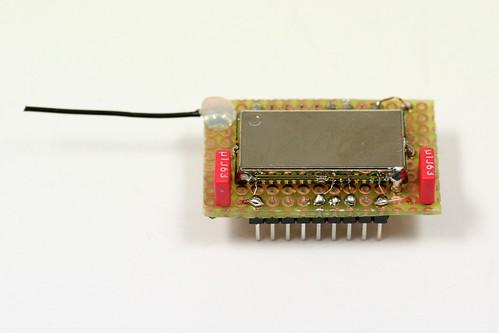 BTM-222 Modul auf Adapter