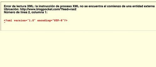 Una simple línea en blanco + PHP = Problemas con WordPress 2.5.1 (Los quebraderos de cabeza de un Blog)