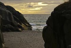 The trails (Vinje) Tags: ocean sunset sea norway stone strand stones picturesque stein polaris karmy karmybilder