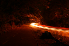 light trail (Fliposopher) Tags: queens lighttrail woodhaven forestparkway